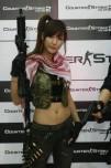 Egy hostess a CSO2 bemutatóján